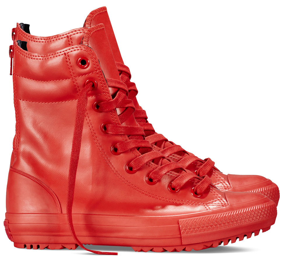 Red Womens Boots PNG Clip Art.