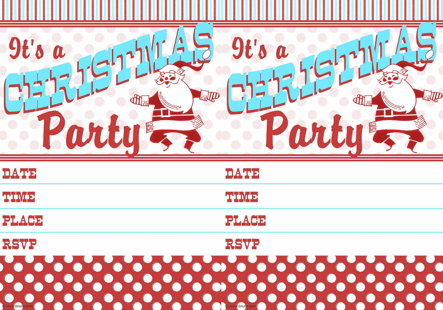 12 Free Christmas Party Invitations That You Can Print.