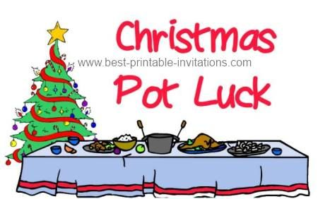 Free Printable Christmas Potluck Invitations from www.best.