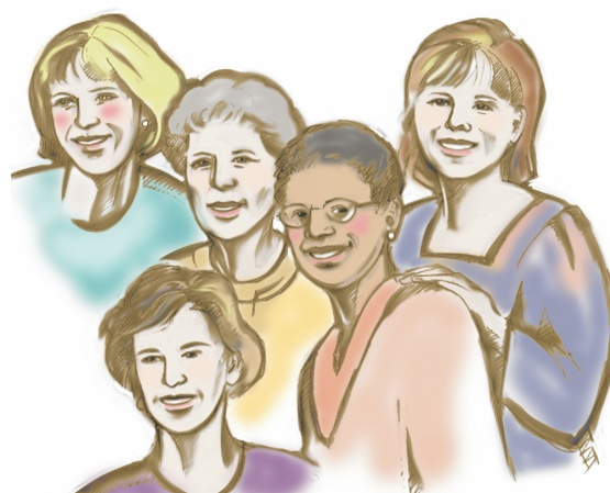 Women Support Group Clipart.