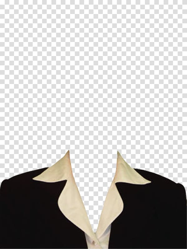 Black blazer and white dress shirt illustration, Suit.