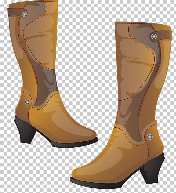 Cowboy boot Shoe, Women\'s high boots PNG clipart.