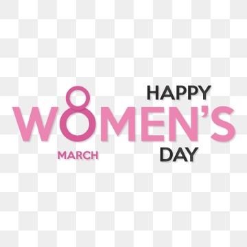 8 March Womens Day Typographic Card, Womens, 8, March PNG and Vector.