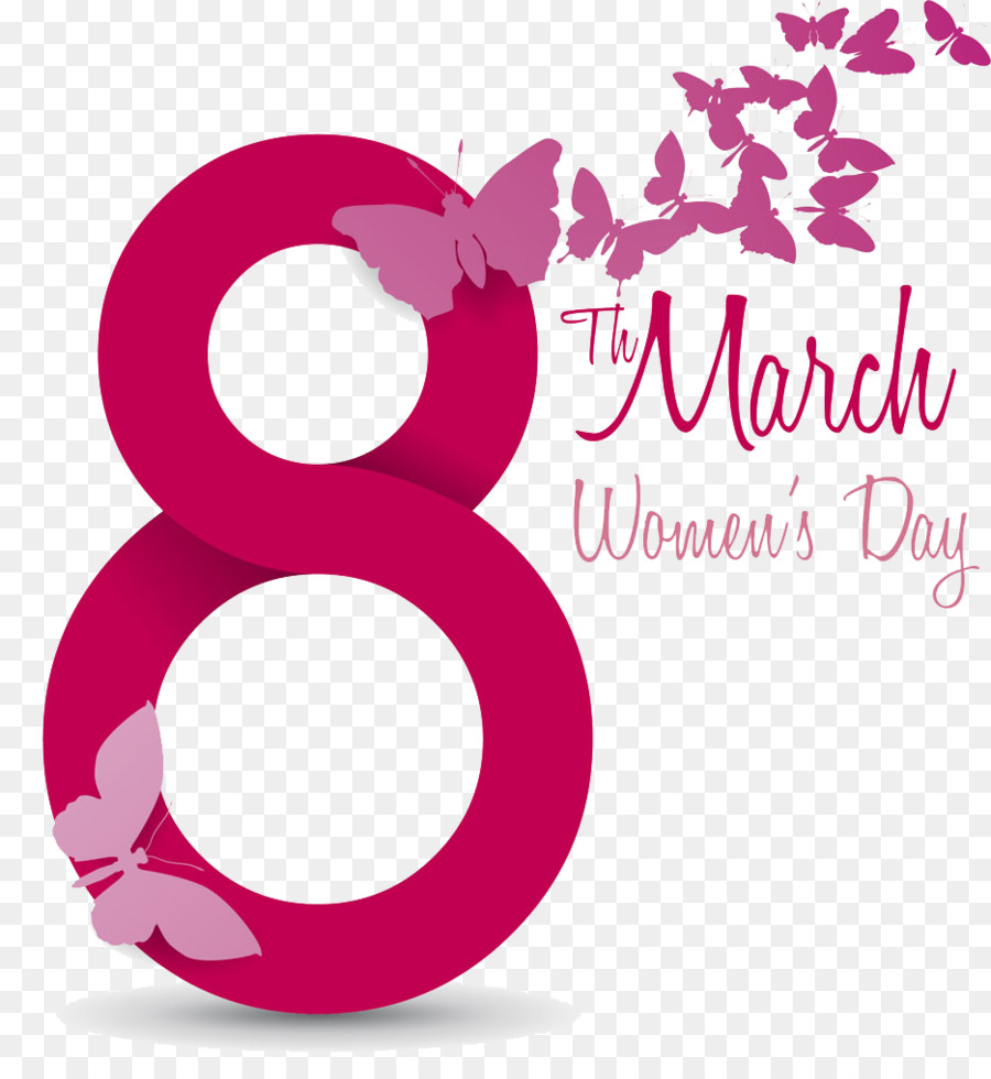 8 March Womens Day png download.
