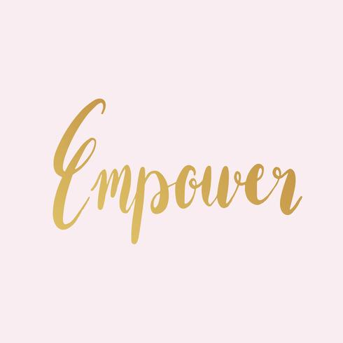 Empower word typography style vector.