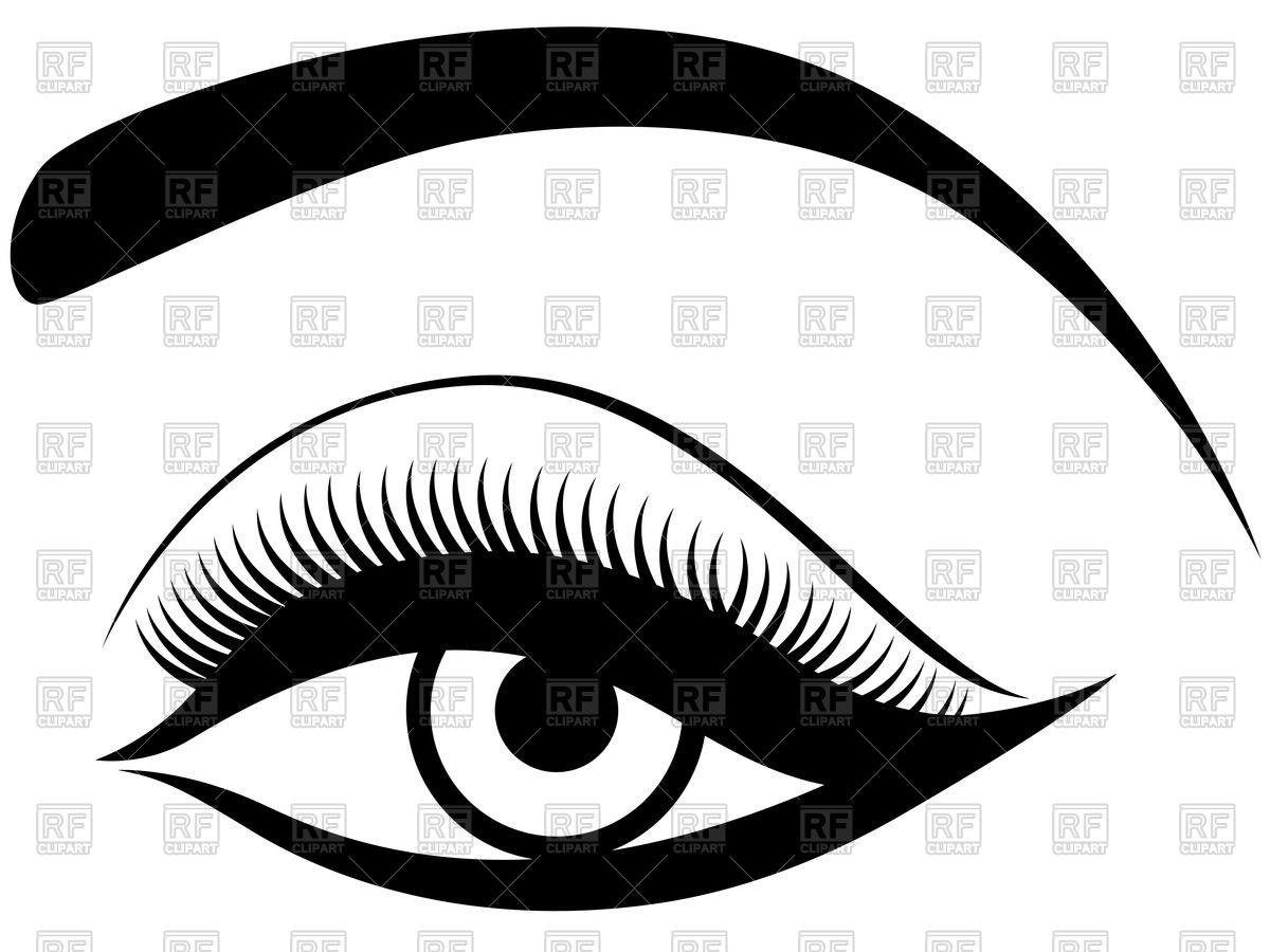 Eyes With Eyelashes Clipart.