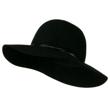 Women\'s 3 Inch Wide Brim Wool Felt Hat.