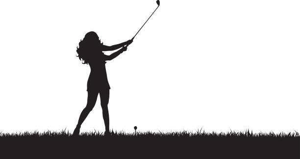Best Women Golf Illustrations, Royalty.