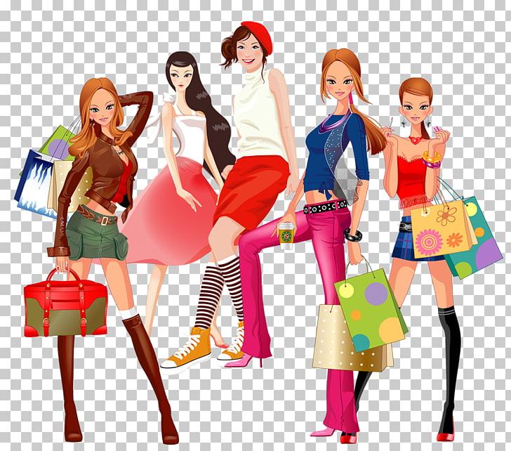 Online shopping Woman eBay Girl, Fashionable women PNG.