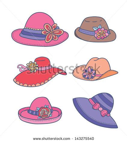 Women's Derby Hat Clipart.