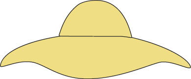 Clip Art Woman's Hat Clipart.