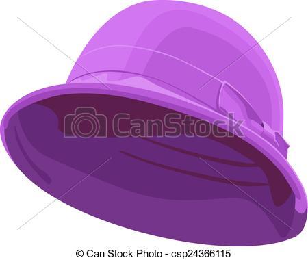 Vector Clip Art of pink womens hat.