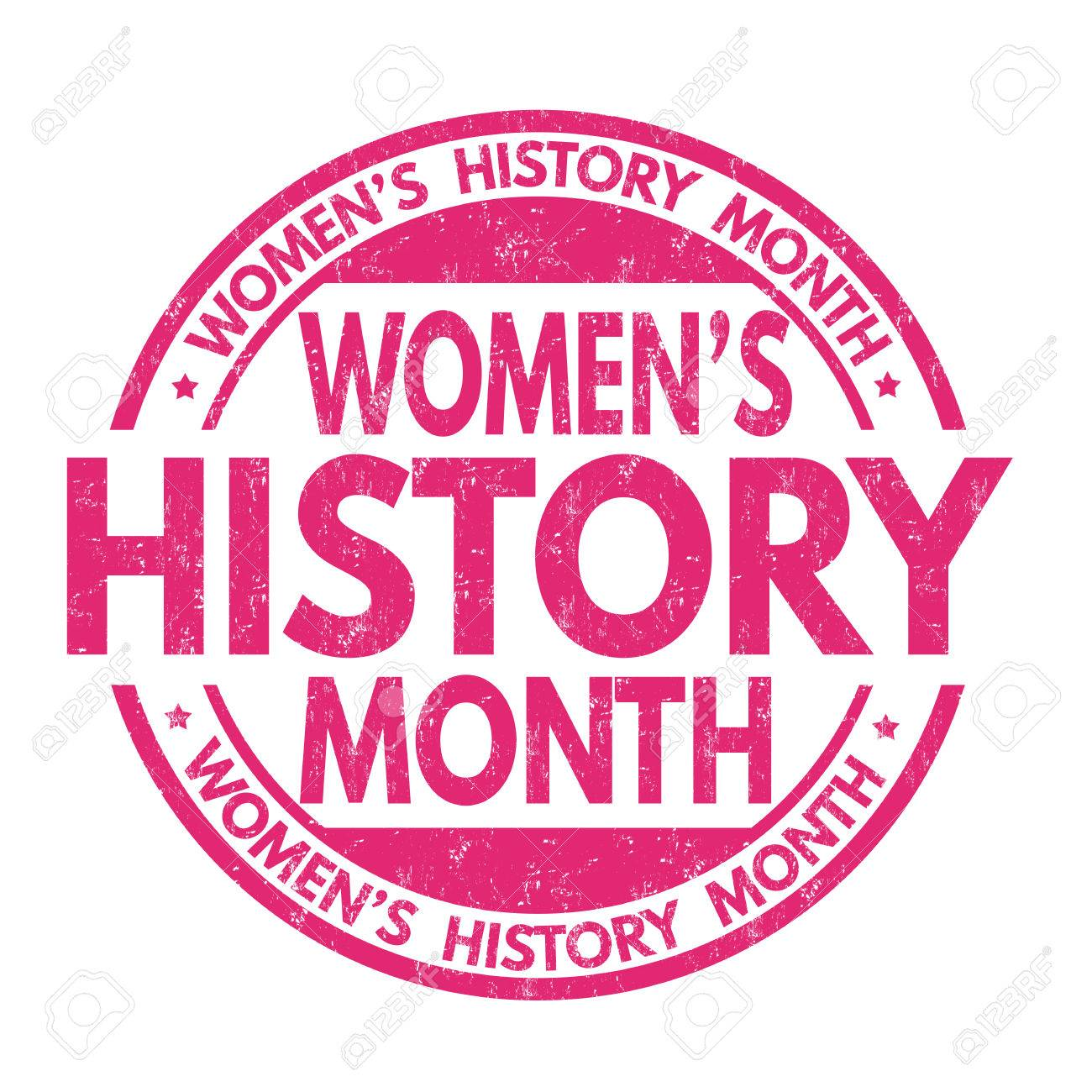 Women's history month grunge rubber stamp on white background,...