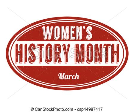 Women's history month sign or stamp.