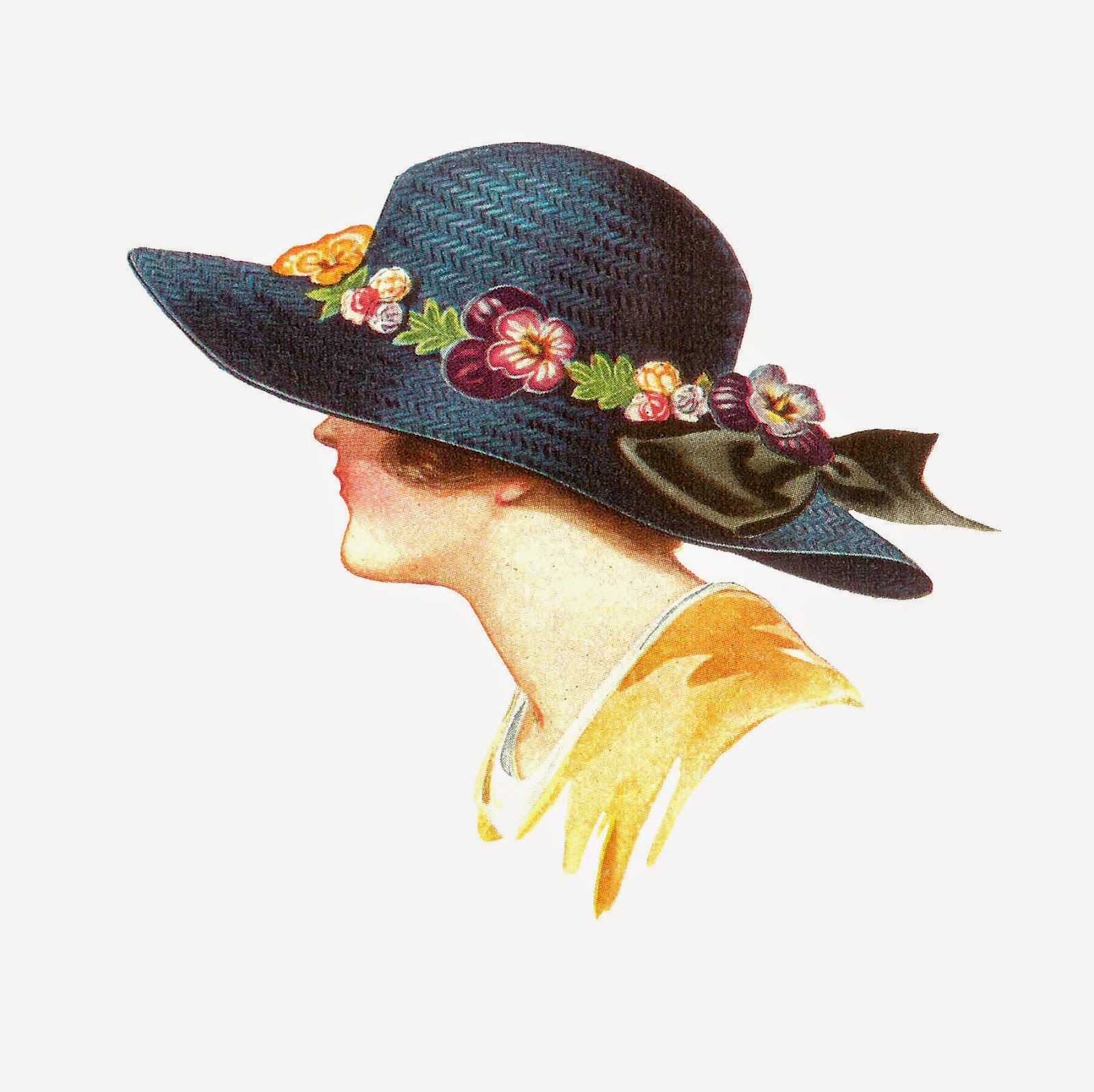 Antique Images: Free Fashion Clip Art: 1915 Women\'s Spring.
