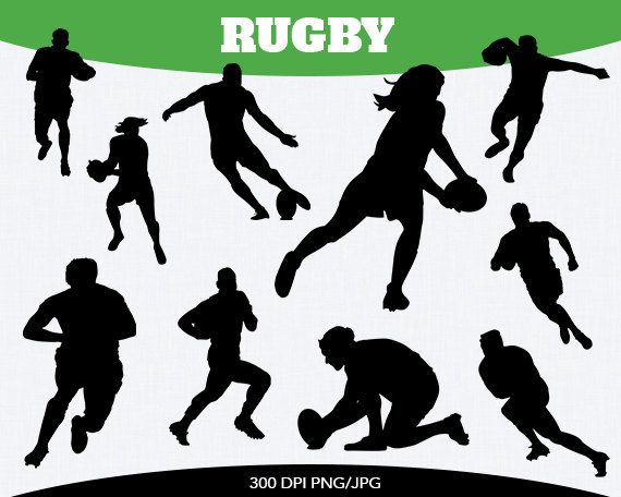Women's Rugby Clipart.