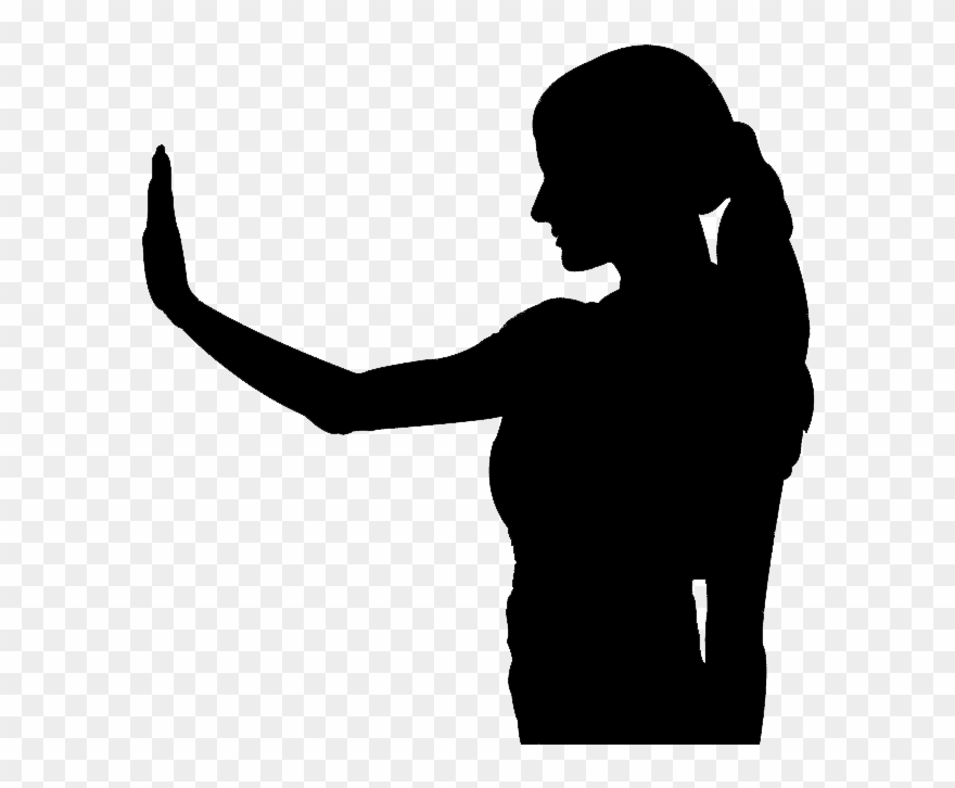 Silhouette Of Woman.