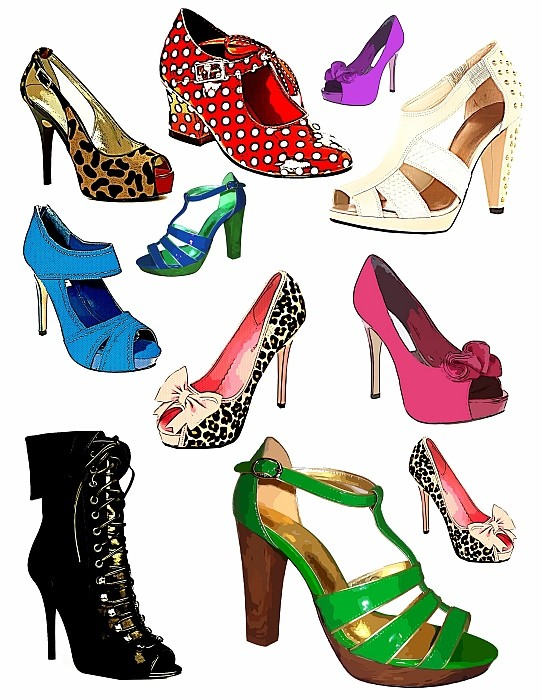 Women's Shoes Clipart.