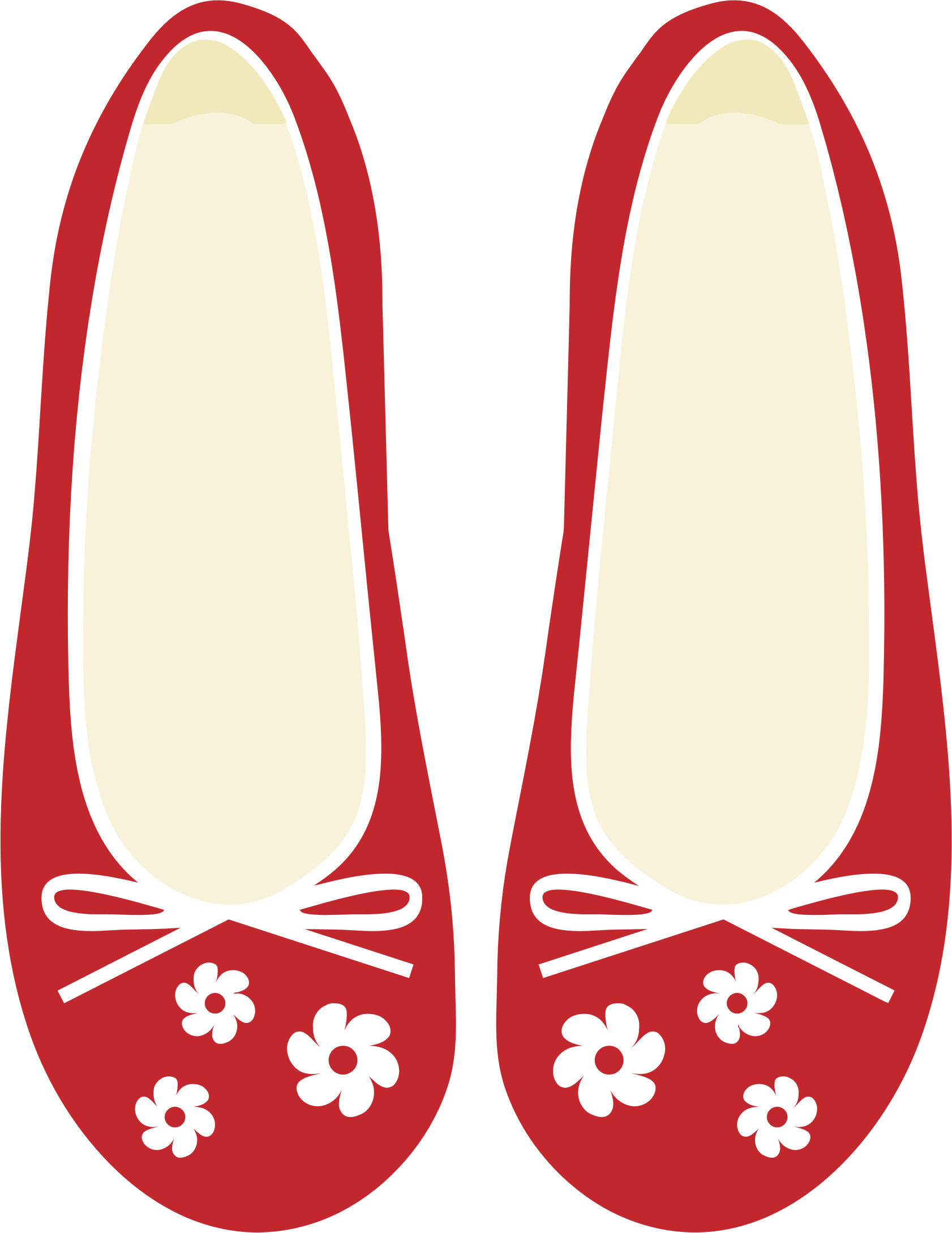 Cute Red Women's Shoes by GDJ.