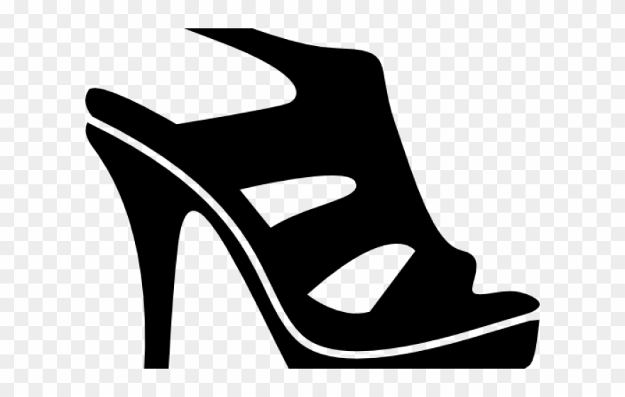 Women Shoes Clipart Black And White.