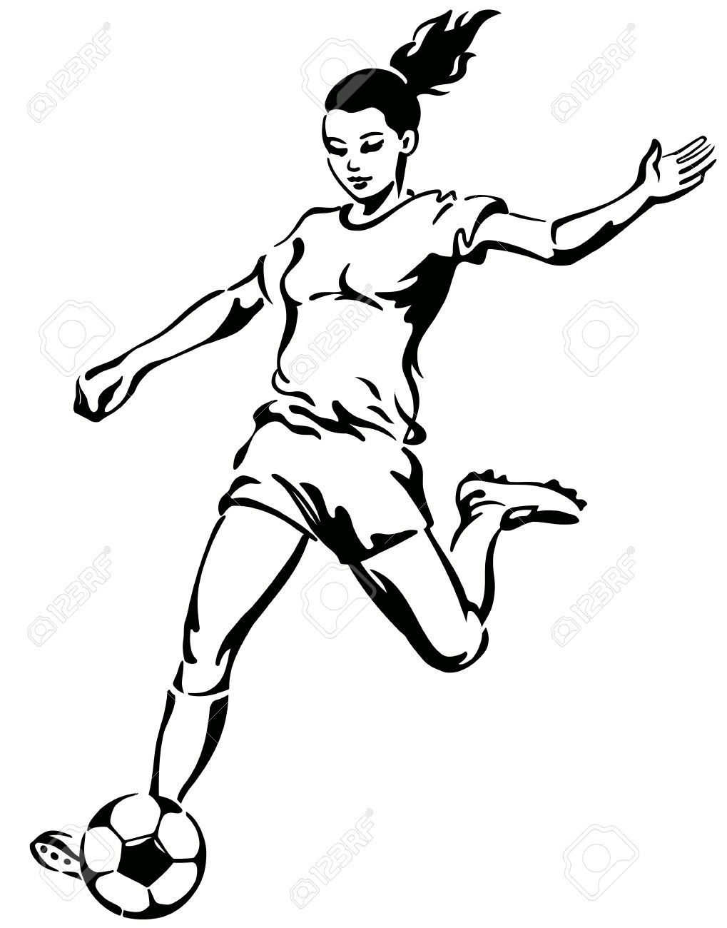 13,230 Soccer Women Stock Vector Illustration And Royalty Free.