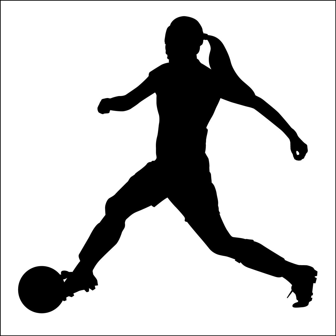 Girl Soccer Silhouette Vector womens soccer clipart ...