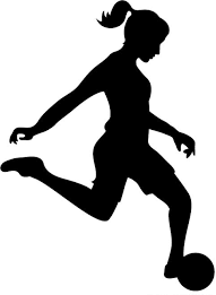 Women playing soccer clipart.