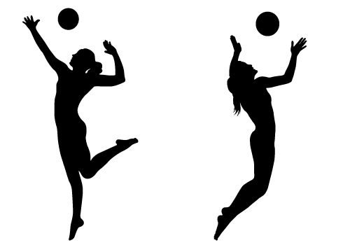 Women\'s Volleyball Clipart.