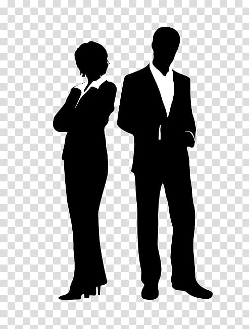 Silhouette of two person illustration, Investment Charles.