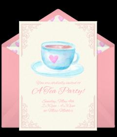Free Tea & Coffee Online Invitations.