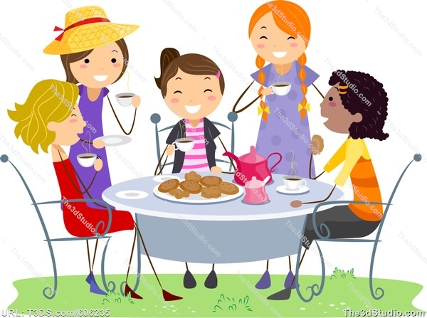1101 Tea Party free clipart.