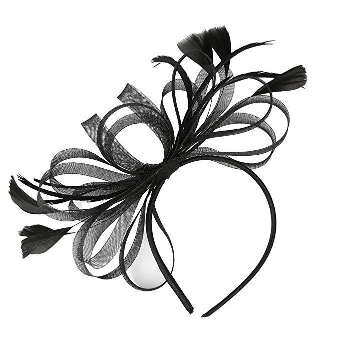 Sayhi Flower Cocktail Hair Clip Fascinators Hat for Women.