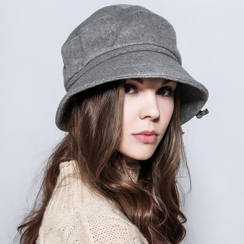 Fashion bucket hat flower decoration winter hats for women.