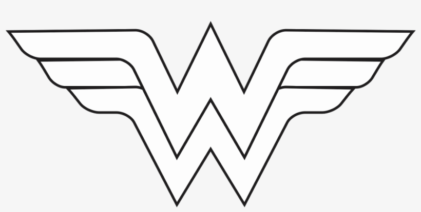 Wonder Woman Black And White Clipart.