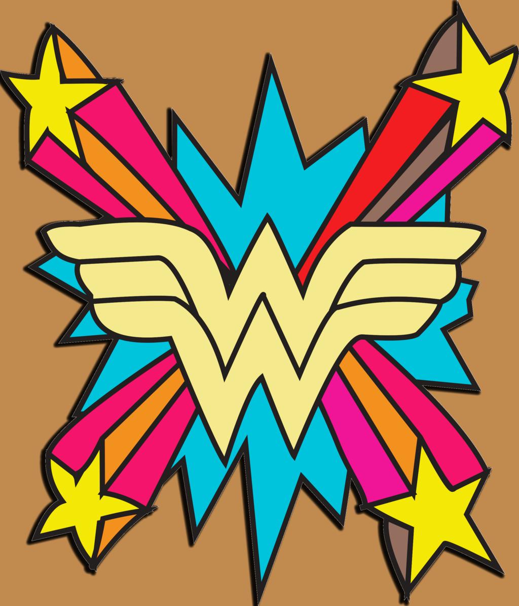 Wonder woman rainbow symbol clipart.