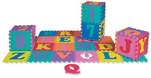 Chenille Kraft 4390 Wonderfoam Letters & Number Puzzle Mat.