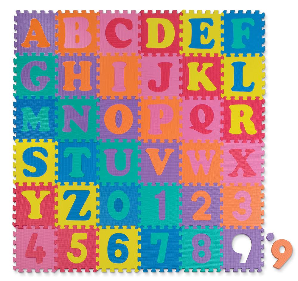 WonderFoam® Letters & Numbers Puzzle Mat.