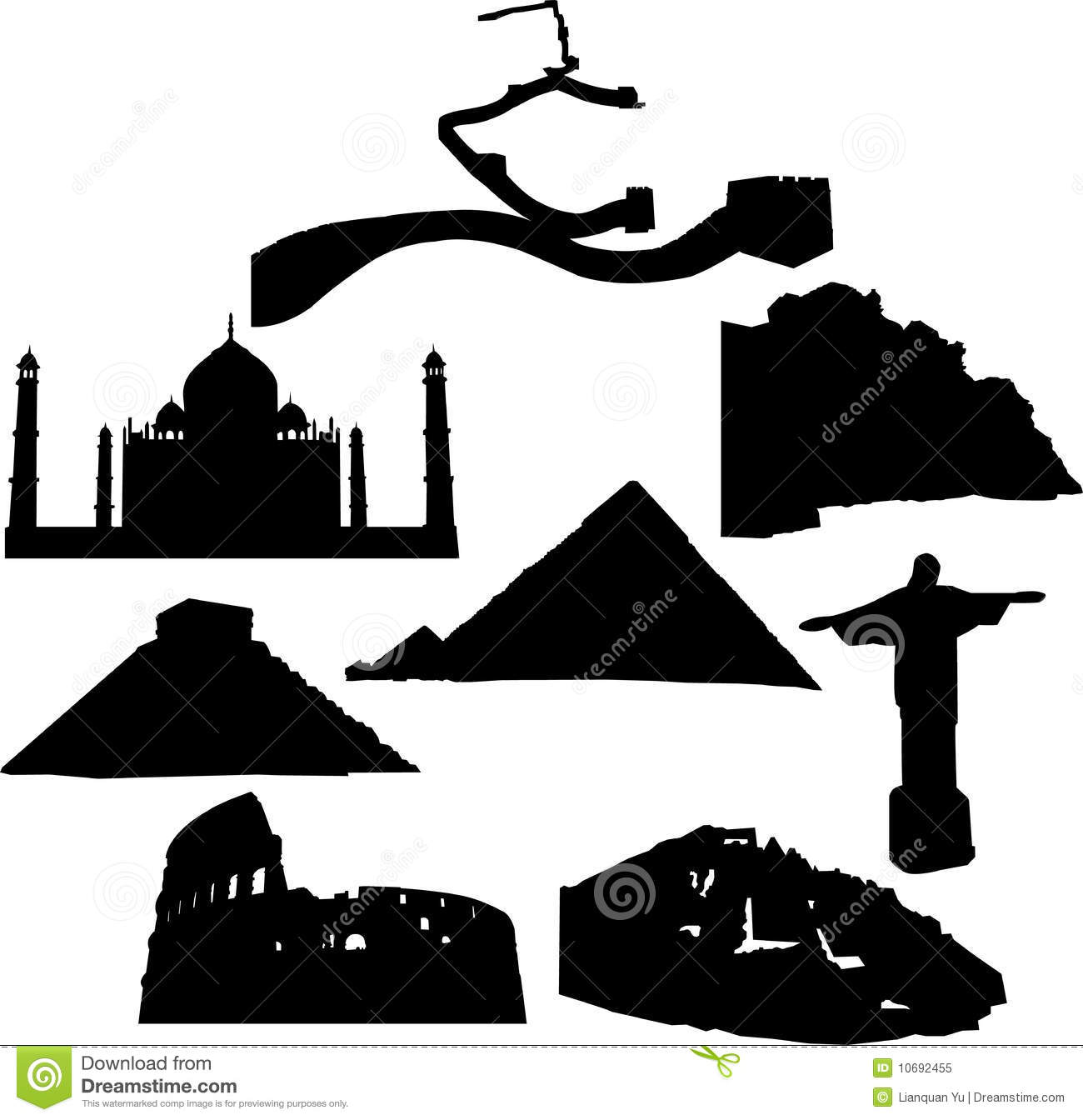 Seven Wonders Of The New World Royalty Free Stock Photo.