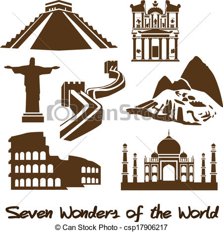 Seven wonders world Clipart and Stock Illustrations. 62 Seven.