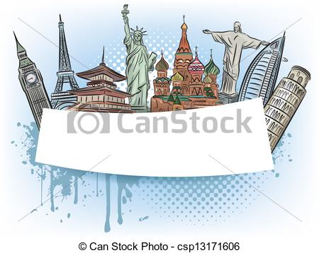 Wonders world Vector Clipart EPS Images. 663 Wonders world clip.