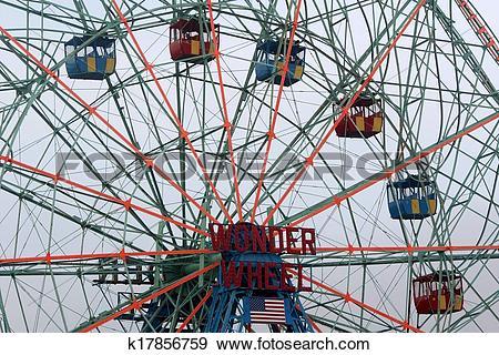 Stock Photograph of Wonder Wheel located at Deno's Wonder Wheel.