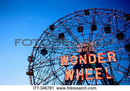 Stock Photography of The Wonder Wheel. Coney Island, Brooklyn. New.