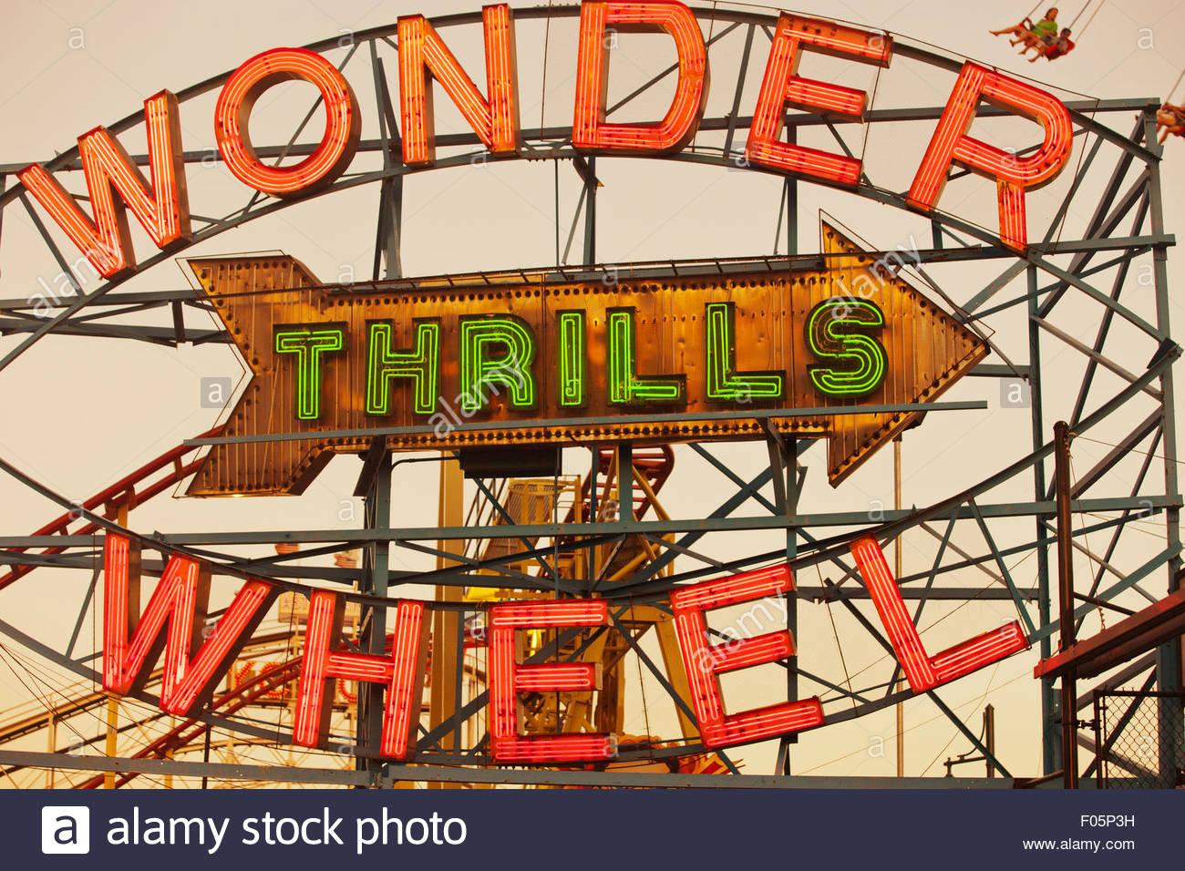 Deno's Wonder Wheel Amusement Park Coney Island New York City Usa.