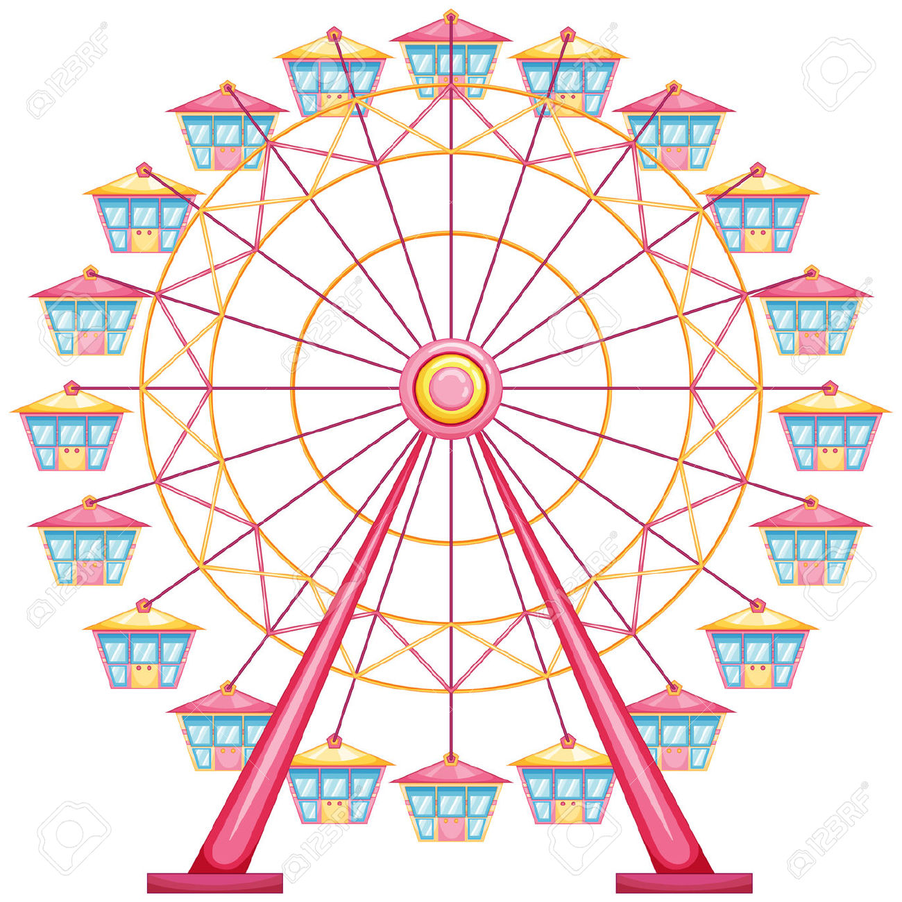 Ferris wheel clip art at vector clip art.