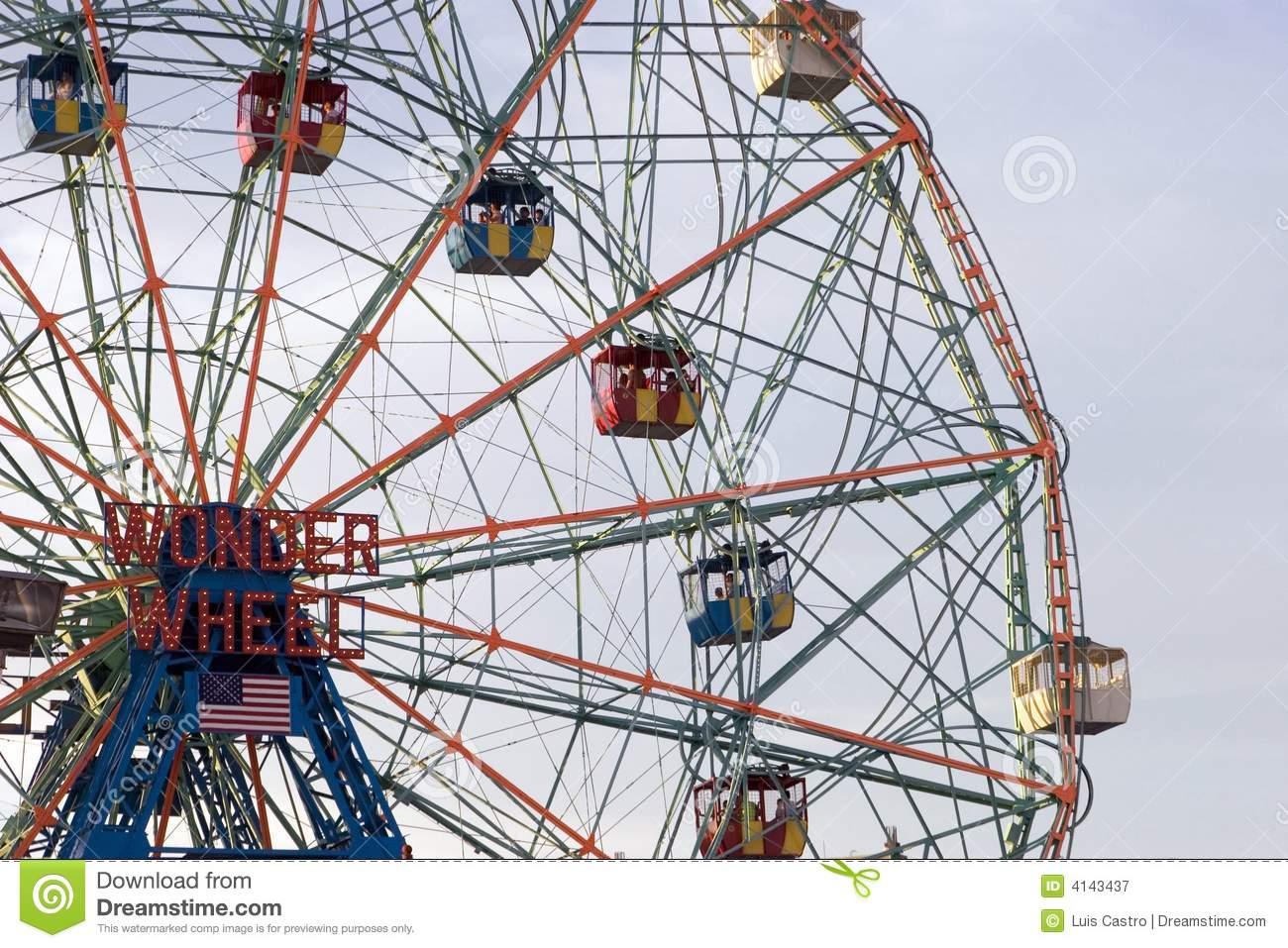 Coney Island Ferris Wheel Clip Art.