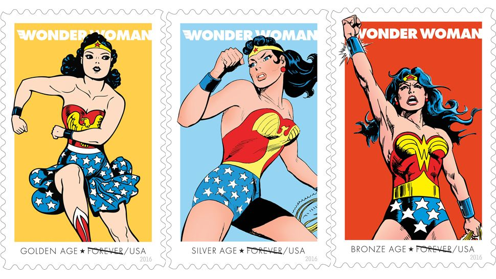 USPS Unveils WONDER WOMAN 75th Anniversary Forever Stamps.