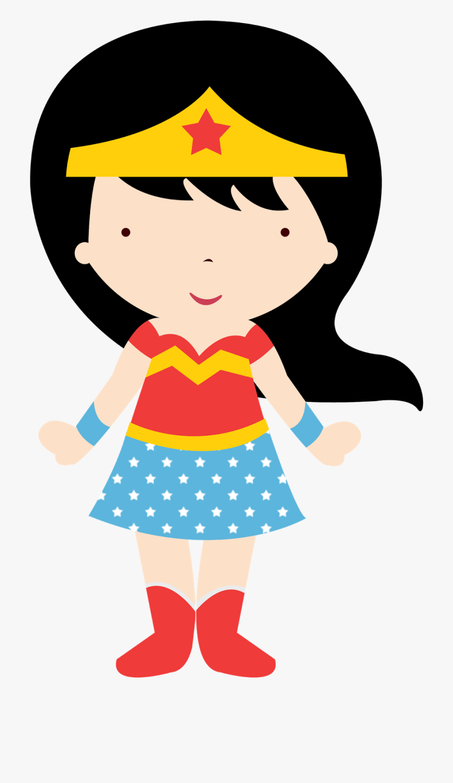Wonder Woman Baby Clipart.