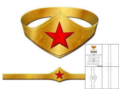 Template for Wonder Woman Tiara.