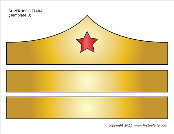 Superhero Crown or Tiara Templates.