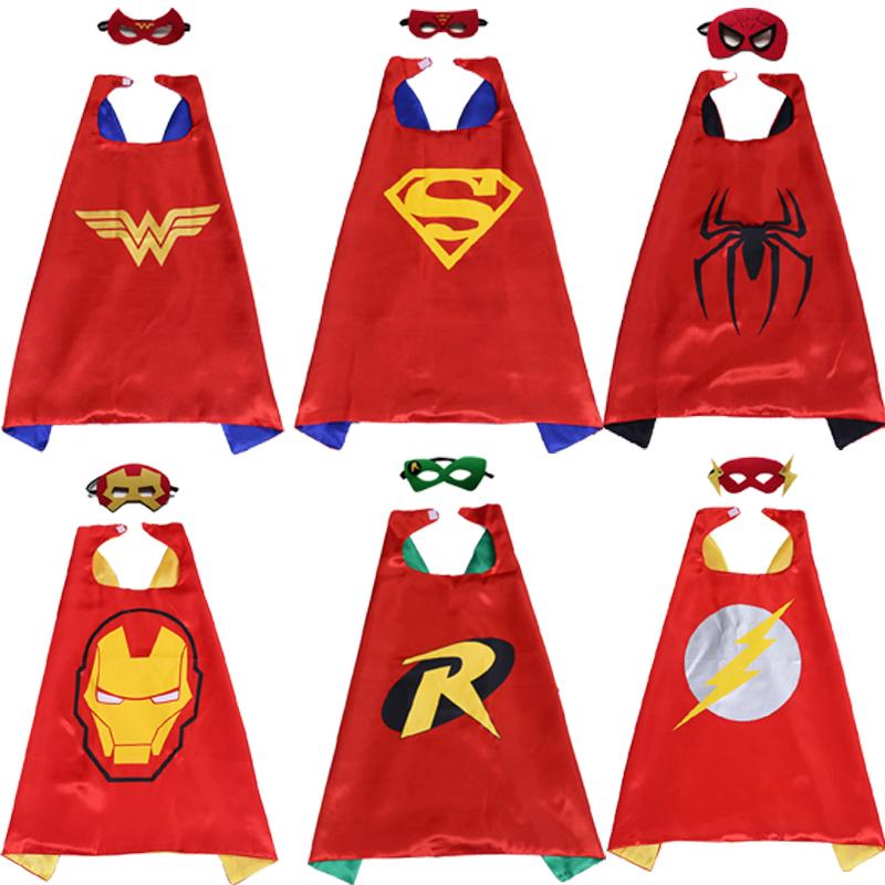 6set/lot Superman Mask Robin Cape The Flash Wonder Woman.